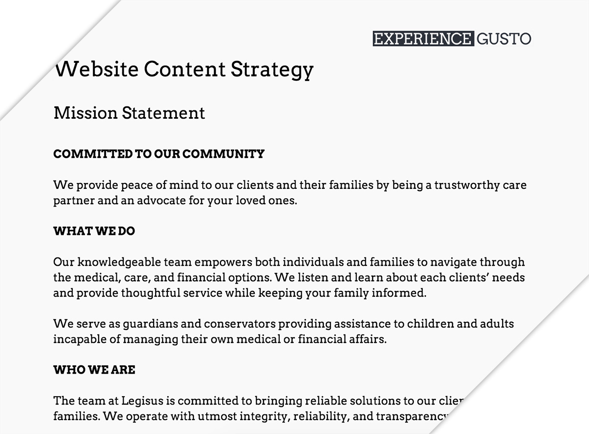 Content Strategy Documentation